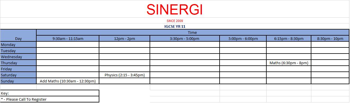 Classes (2018) - Sinergi